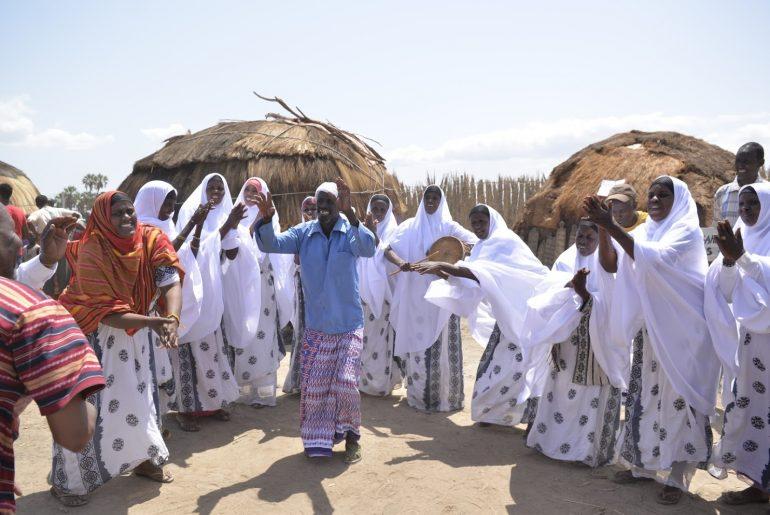 Dancing at the Marsabit Lake Turkana Festival, Kenya