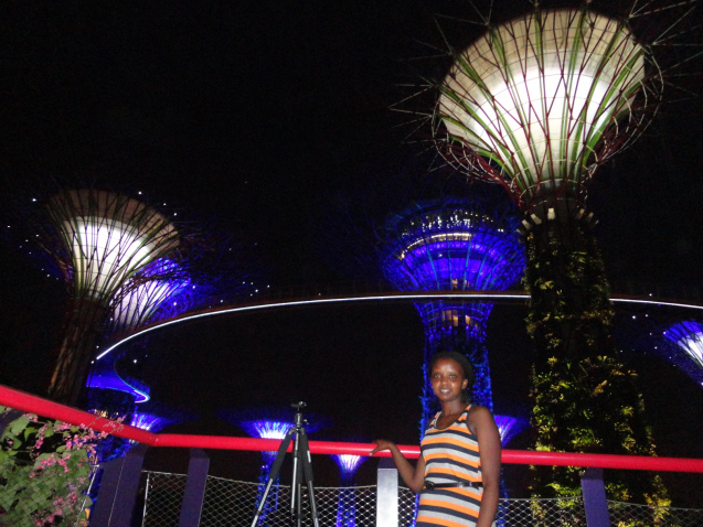 Wangechi at Garden by the Bay, Singapore