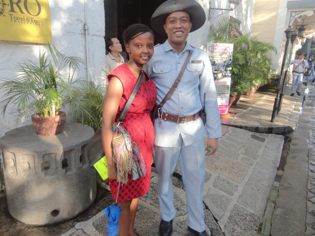 Wangechi at Intramuros, Philippines