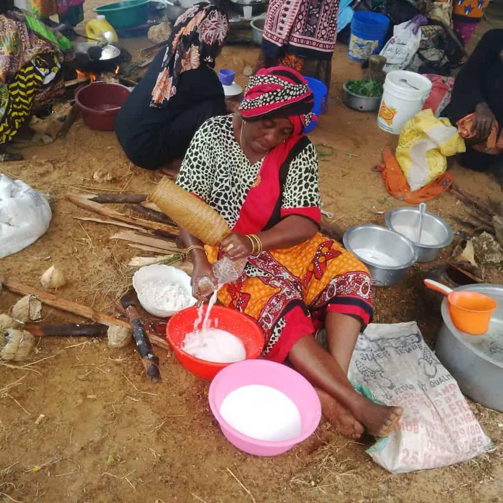 Making coconut milk at Mombasa Cultural Festival
