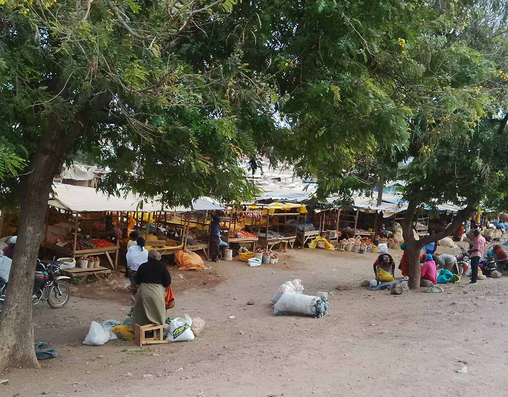Open air market in Isiolo, Kenya