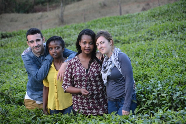 With friends David and Coco enjoying a tea farm in Nyeri