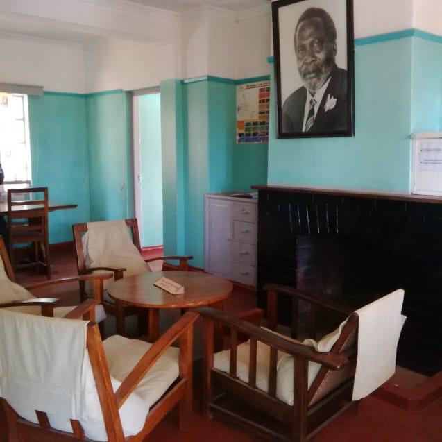 Inside Kenyatta house, Samburu, Kenya