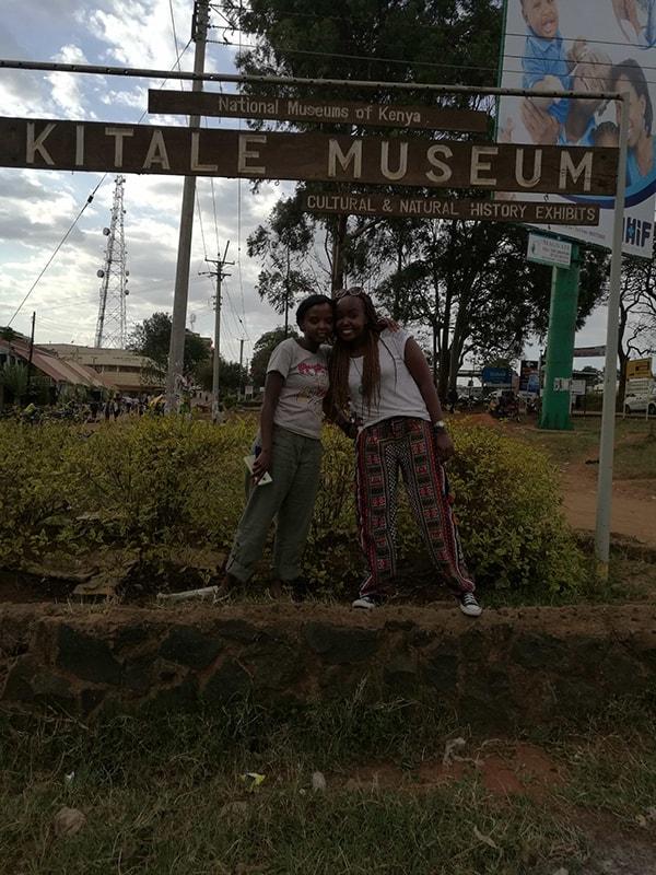 At Kitale Museum with Nduta in Kitale, Kenya