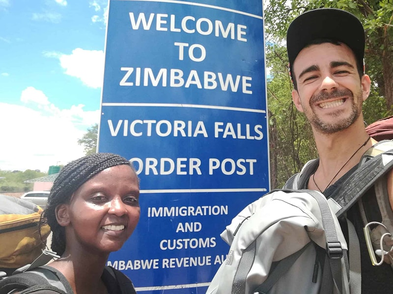 David-and-Wangechi-Gitahi-at-Victoria-falls,-Zimbabwe