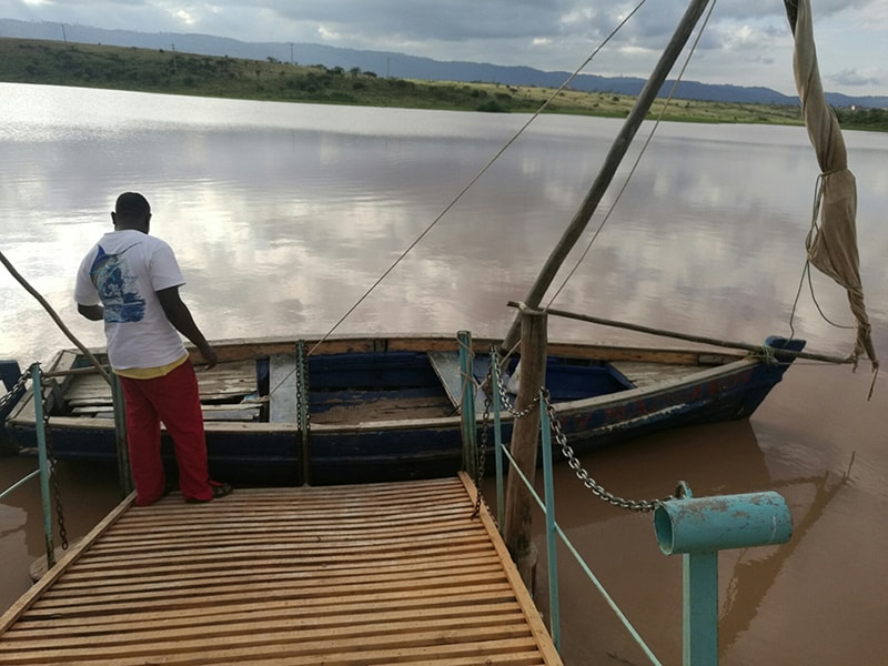 Our boat that navigated the Maruba dam at Machakos peoples Park, Kenya