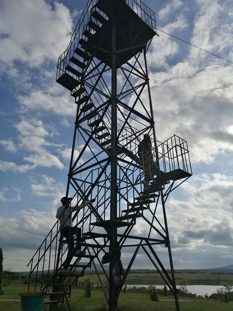 The-staircase-leading-to-the-Zip-lining-at-Machakos-Peoples-Park-in-Machakos-Kenya