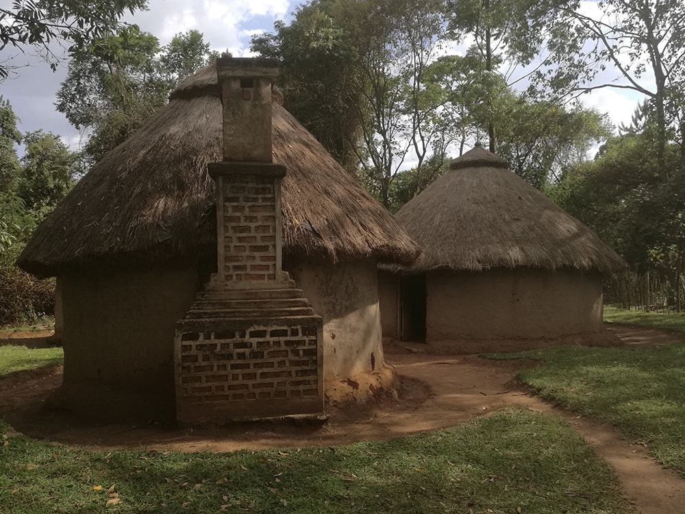 Traditional home on display at the Kitale Museum in Kitale, Kenya