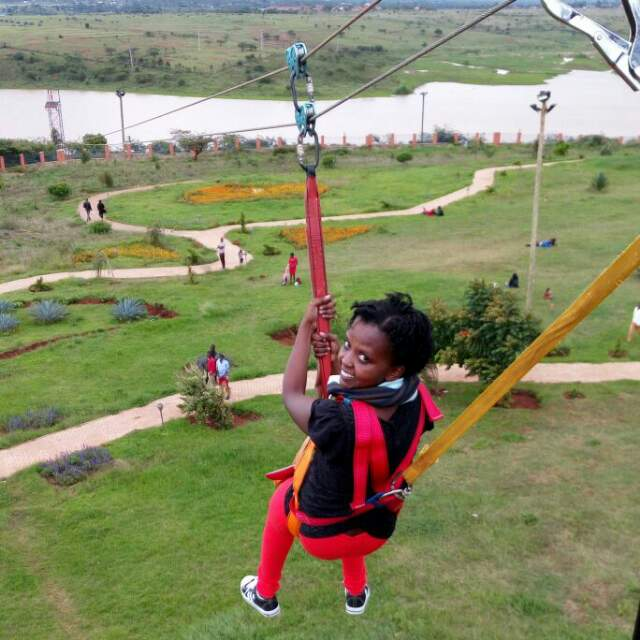 zip lining at Machakos peoples park