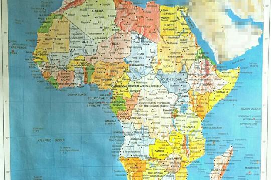 map of africa - wangechi gitahi