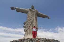 I was so happy to get a close up with Christ the Redeemer statue in Lodwar, Turkana, Kenya