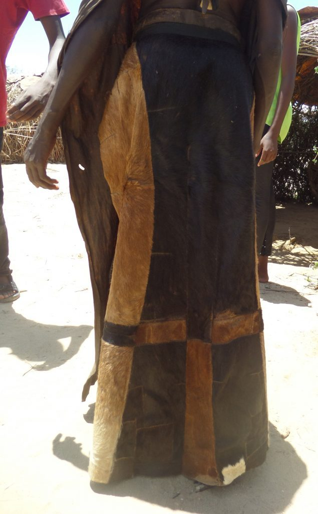 woman dressed in goat hide-wangechi gitahi travels